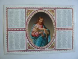ALMANACH 1870  CALENDRIER  Chromo- Lithographie  Allégorie Religion  Médaillon Le Bon Berger  - Mayoux Et Honoré  édit - Tamaño Grande : ...-1900