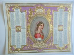 ALMANACH 1870  CALENDRIER  Chromo- Lithographie  Allégorie Médaillon Portrait De Femme   - Mayoux Et Honoré  édit - Calendriers