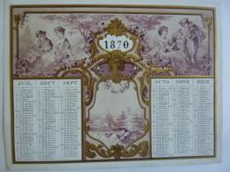 ALMANACH 1870 CALENDRIER SEMESTRIEL  (2) Chromo- Lithographie  Allégorie- Mayoux Et Honoré  édit - Calendriers