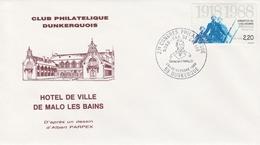 OBLIT. ILLUSTRÉE CONGRES PHILATÉLIE DUNKERQUE 10/88 - Gaspard MALO Fils De Corsaire/capitaine... - Postmark Collection (Covers)