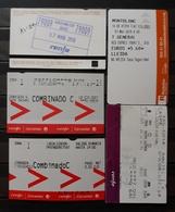RENFE ESPAÑA. 5 TICKET DIFERENTES. - Trenes
