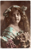 Jolie Fillette, Ellen, Cheveux Longs Et Bouquet De Roses, Portrait, Beauté, éd. RPH N° 0 30 - Portraits