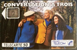 Telefonkarte Frankreich - Conversation A Trois -  50 Units - 08/92 - Frankreich