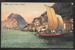 Switzerland - Lago Di Lugano - Gandria - Sailing Boat - Hotel Postmark 1909 - TI Tessin