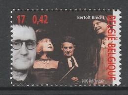 TIMBRE NEUF DE BELGIQUE - LE POETE ET DRAMATURGE BERTOLD BRECHT N° Y&T 2952 - Writers