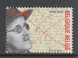 TIMBRE NEUF DE BELGIQUE - L'ECRIVAIN JAMES JOYCE N° Y&T 2953 - Writers