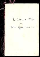 LA CULTURE DU PECHER Par M. O.  OPOIX Mars 1914 Recopiée à La Plume - F. Trees & Shrub