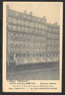 France - Paris - Hotel Anglo Americain / Brasserie Mollard - Posted 1952 - Cafés, Hôtels, Restaurants