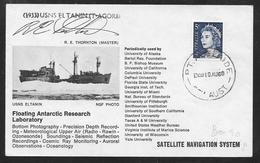 Australia - USNS Eltanin - Floating Antarctic Research Laboratory - Signed Cover - Adelaide Pmk - 1966-79 Elizabeth II