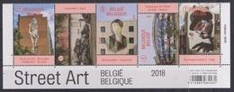 BE 2018 - Street Art En Belgique - Zoom Sur Le Sreet Art -  Bandes De 5 Timbres - Belgique
