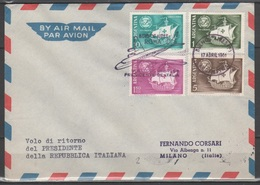 Argentina 1961 - Volo Di Ritorno Del Presidente Gronchi                        (g5519) - 1961-70: Marcofilie