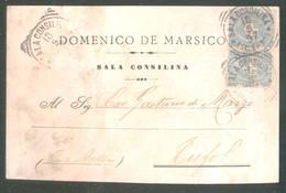 SALA CONSILINA - SALERNO - 1897 - CARTOLINA COMMERCIALE - DE MARSICO - Negozi