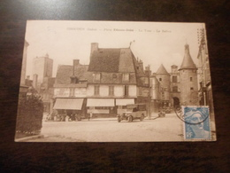 CPA ANIMEE - ISSOUDUN - INDRE - COMMERCE EPICERIE  - PLACE ETIENNE DOLET - Shopkeepers