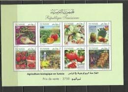 2010 - Tunisia / Agricoltura Biologica In Tunisia / Perforato Blocco MNH** - Tunisia (1956-...)