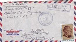 AIRMAIL CIRCULEE HONDURAS TO ARGENTINE  YEAR 1974 RECOMMANDE - BLEUP - Honduras