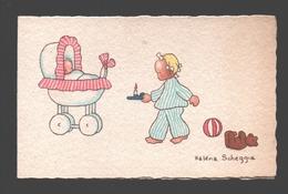 Héléna Scheggia - Double Card - Children / Enfants / Kinder - Naïf / Naive - 10,6 X 6,7 Cm - Autres Illustrateurs