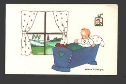 Héléna Scheggia - Double Card - Children / Enfants / Kinder - Naïf / Naive - 10,4 X 6,6 Cm - Autres Illustrateurs