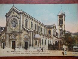 75 - PARIS - Tout Paris - L'Eglise Notre Dame Des Champs, Construite En 1876 Par Ginain. ( VI° Arr.) Colorisée - Eglises