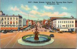 Alabama Montgomwery Dexter Avenue Looking East Curteich - Montgomery