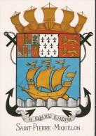 SAINT-PIERRE Et MIQUELON  Les Armoiries - Saint-Pierre-et-Miquelon
