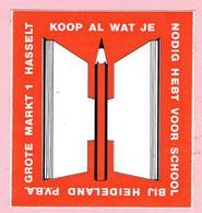 Sticker - Koop Al Wat Je Nodig Hebt Voor School Bij Heideland - Grote Markt Hasselt - Autocollants