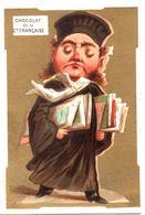 Figurina, Chromo. Chocolat De La C.ie Française. Caricatures: L'Avocat. L'Avvocato. Fond Doré. Appel 1-1-33/10 - Chocolat