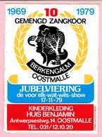 Sticker - 10 Jaar Gemengd Zangkoor BERKENGALM - Oostmalle - 1967 1979 - Stickers