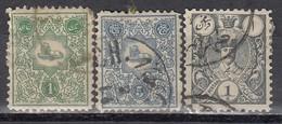 IRAN 1885 - MiNr: 50+52+54  Used - Iran