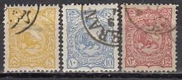 IRAN 1897 - MiNr: 98+100+101 I    Used - Iran