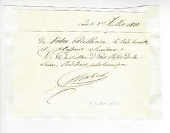 Gaspard De Chabrol (1773 - 1843) PREFET DE LA SEINE 1820 AUTOGRAPHE ORIGINAL AUTOGRAPH /FREE SHIP. R - Autographs