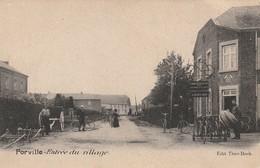 Forville  Entrée Du Village  Cyclistes ,vélos,magasin De Vélos Bien Animée N'a Pas Circulé - Fernelmont