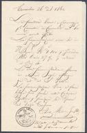 1860 GUARDIA NAZIONALE COMACCHIO - ORDINE VIVERI MILITARI - MILITARIA ROMAGNE - Documenti