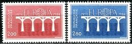 A13-22-1) Frankreich - Mi 2441 / 2442 = Y 2309 / 2310 - ** Postfrisch (E) - 200-280c    CEPT 84 - France