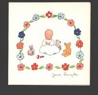 James Pennyless - Double Card - Children / Enfants / Kinder - Naïf / Naive - Ca 8 X 8 Cm - Pennyless, James