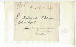 Jean-Pierre De Montalivet (1766 - 1823) MINISTRE 1810 AUTOGRAPHE ORIGINAL AUTOGRAPH /FREE SHIP. R - Autógrafos