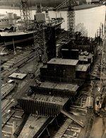 SWEDISH AMERIKA LINER BUILDING KUNGSHOLM 1966 CLAN   +- 25 * 19 Cm - Bateaux
