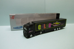 Welly - Semi-remorque MERCEDES-BENZ ACTROS Camion Color Josem Réf. 72130W Neuf NBO HO 1/87 - Véhicules Routiers