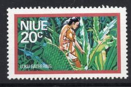 1976 NIUE 20c Mint Not Hinged Stamp - WOMAN GATHERING LUKU LEAVES In JUNGLE - Niue