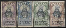 Ethiopia Scott # 253-6 Used Selassie, 1942-3 - Ethiopia