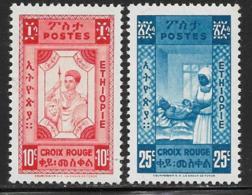 Ethiopia Scott # 269-70 MNH No Overprint Nurse And Baby, 1945 - Ethiopia
