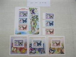 Congo (Kinshasa ) 2011  Butterflies  MI 2055-2057  BL397-399 - Democratic Republic Of Congo (1997 - ...)