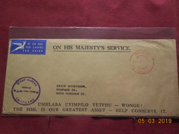 Lettre De 1969 Du Swaziland A Destination De Munich - Swaziland (1968-...)