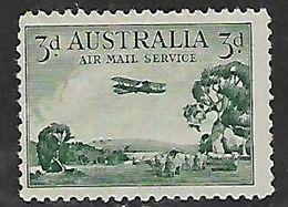 Australia, 1935, 3d Air, MH * Vertical Crease Through Ist A Of Australia - 1913-36 George V : Other Issues