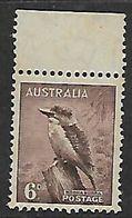 Australia, 1937, 6d, Kookaburra, , MNH* *, - 1937-52 George VI