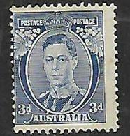 Australia, 1937/8, 3d Blue, Die I, MNH* *, Gum Tone To Perfs - 1937-52 George VI
