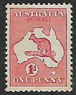 Australia, Kangaroo, 1913, 1d,   MH *, Gum Tone - 1913-48 Kangaroos