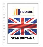 Suplemento Filkasol Gran Bretaña 2018 - Ilustrado Para Album 15 Anillas - Pre-Impresas