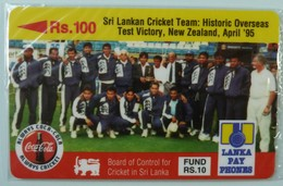 SRI LANKA - GPT - 14SRLA  - Rs 100 - Cricket Team - Mint Blister - Sri Lanka (Ceylon)