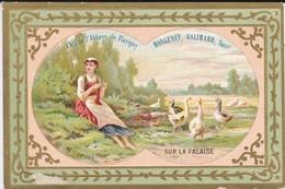 CHROMO---RARE--21--FLAVIGNY--anis De L'abbaye De Flavigny--sur La Falaise-( La Gardeuse D'oies )--voir 2 Scans - Confectionery & Biscuits