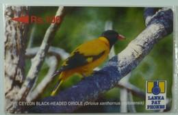 SRI LANKA - GPT - 21SRLC  - Rs 100 - Black Headed Oriole - Mint Blister - Sri Lanka (Ceylon)